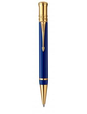 Шариковая ручка Parker Duofold Historical Colors International K74, цвет: ляпис-лазурь (Lapis Lasuli GT)