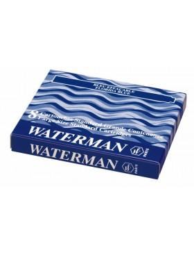 Чернила в картридже З/ч. Waterman Ink cartridge Standard Blue  (в упаковке 8 картриджей)