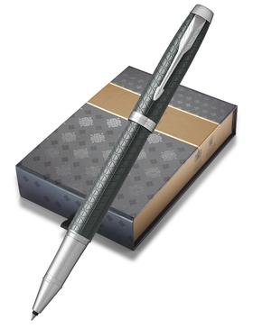 Набор: Чехол для ручки и Ручка роллер Parker IM Premium Dark Green CT