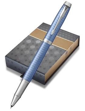 Набор: Чехол для ручки и Ручка роллер Parker IM Premium Blue CT