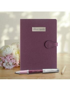 Набор с гравировкой: Ежедневник недатированный и Ручка-роллер Parker Urban Premium Dark Purple CT, T310