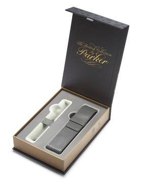 Подарочная коробка с серым чехлом под ручку