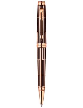 Шариковая ручка Parker Premier Luxury 2013, K560, цвет: коричневый и розовый золотистый (Brown PGT)