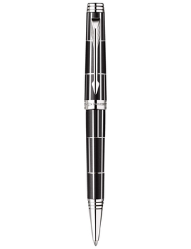 Шариковая ручка Parker Premier Luxury 2013, K560, цвет: черный и серебристый (Black СT), стержень: чернила черного цвета (Black)