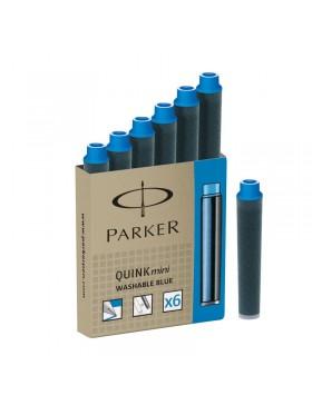 Картридж с чернилами для перьевой ручки MINI, упаковка из 6 шт., цвет: Blue