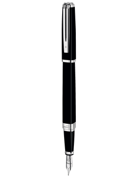 ПЕРЬЕВАЯ РУЧКА WATERMAN (ВАТЕРМАН) EXCEPTION SLIM BLACK LACQUER ST F